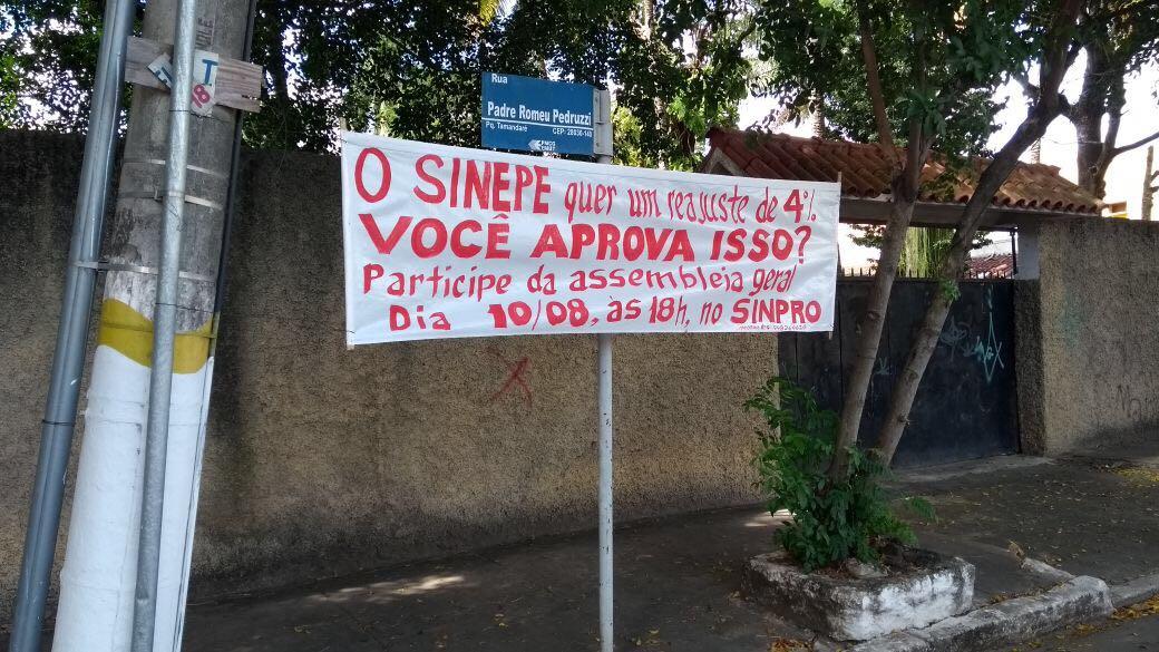 Assembleia de professores de Campos e São João da Barra recusa proposta do Sinepe de 4% de reajuste