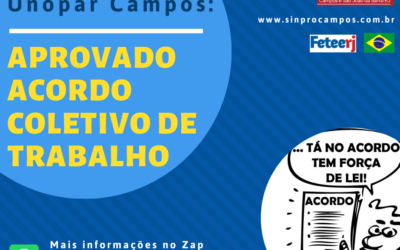 SINPRO CAMPOS/SJB FECHA ACORDO PARA OS PROFESSORES DA UNOPAR